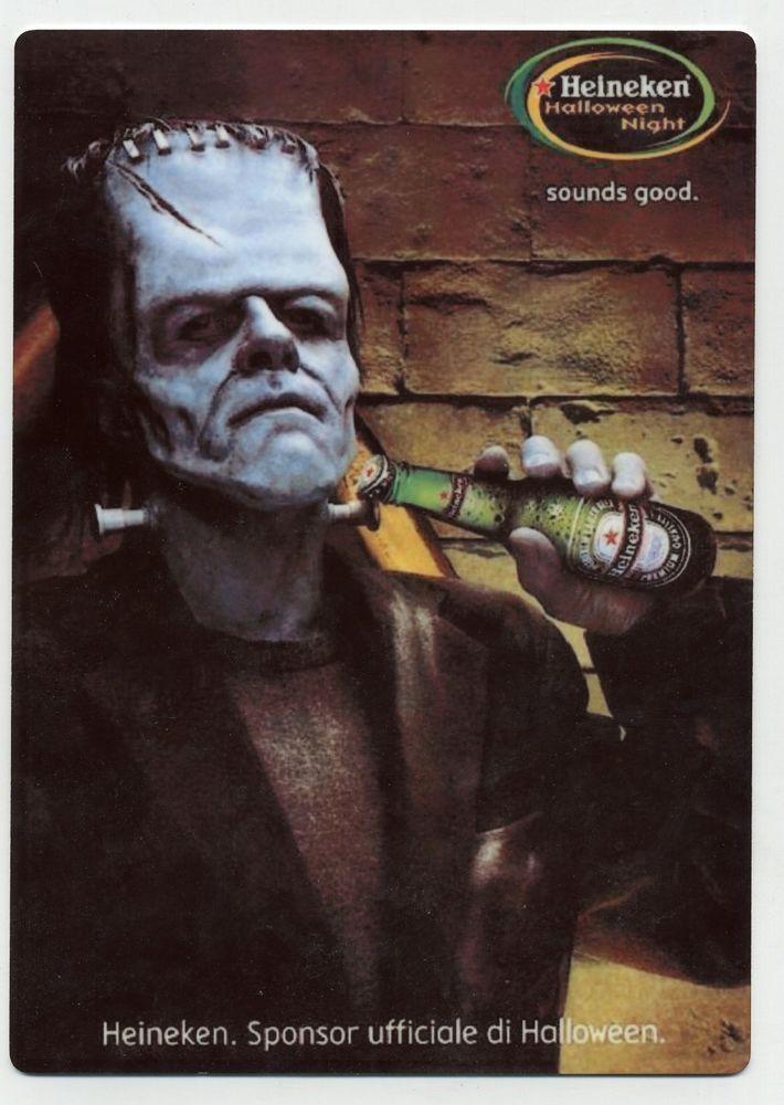 Halloween Bier.Heineken Beer Metal Counter Display Sign Halloween Bier Ad
