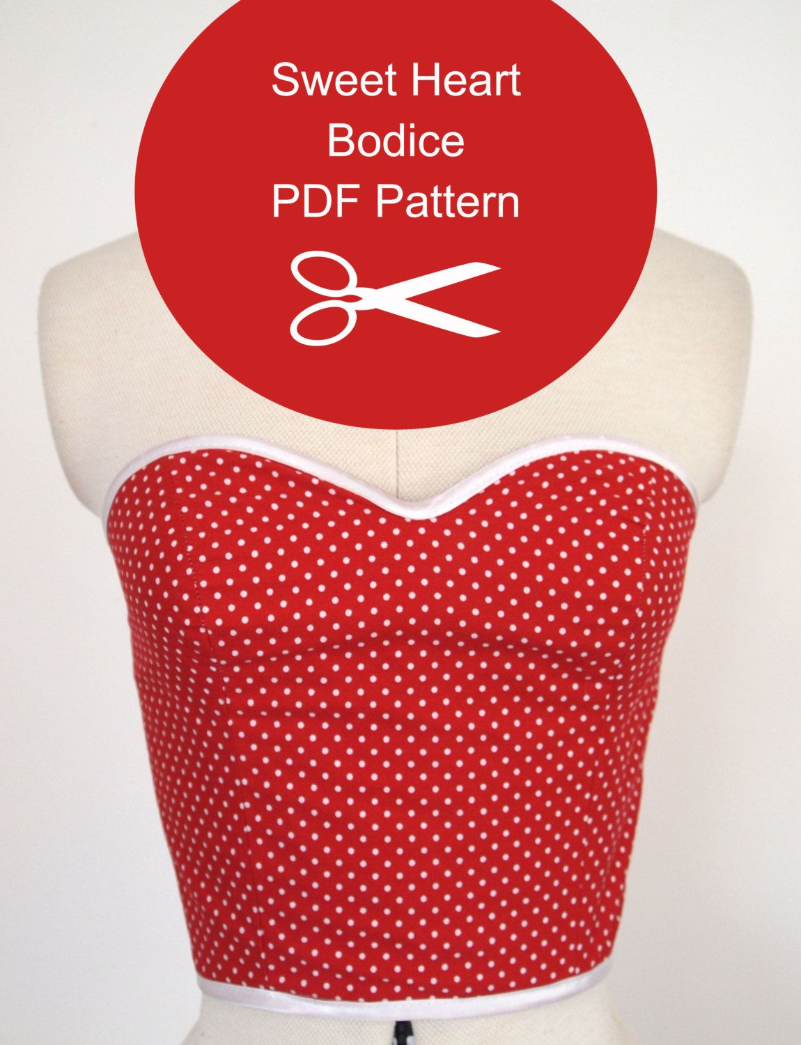 Strapless Top - Sewing Pattern - Instant PDF Download - Multi Size ...