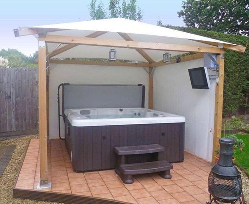 25 Most Mesmerizing Hot Tub Cover Ideas For Ultimate Relaxing Time Godiygo Com Hot Tub Gazebo Hot Tub Outdoor Hot Tub Patio