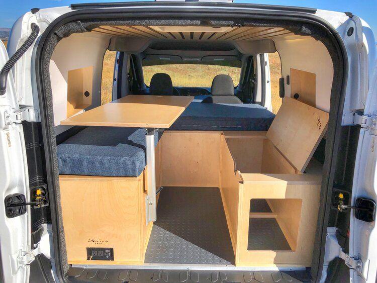 Promaster City Bench Seat Cargo Van Table In 2020 Van Cargo Van