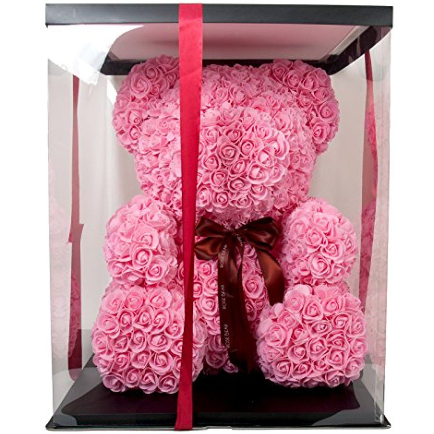 The Rose Bear Teddy Bear Cub Pink Forever Artificial Rose