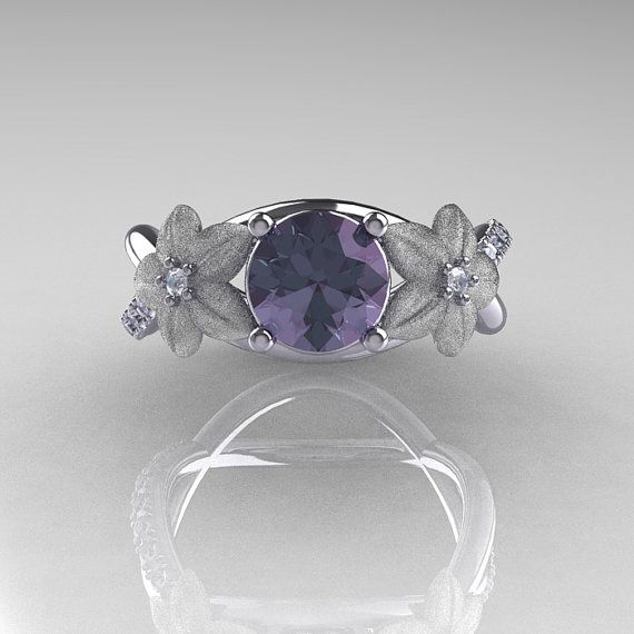Nature Classic 14K White Gold 10 CT Alexandrite by artmasters, $1149.00