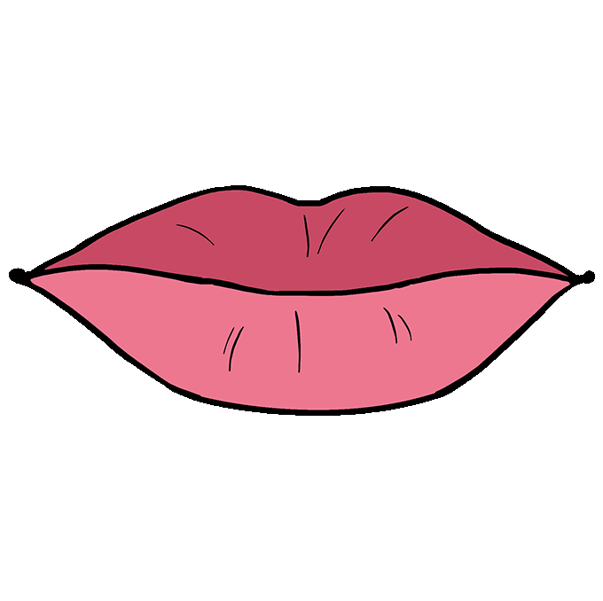 How To Draw Lips Really Easy Drawing Tutorial Lips Drawing Lipstick Sketch Drawing Tutorial Easy