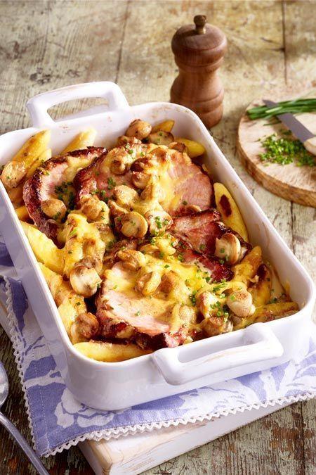 Photo of Smoked pork and mushroom bake with Schupfnudeln – Carole