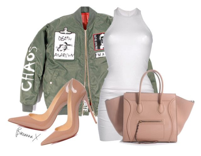 Untitled #2659 by breannamules on Polyvore featuring DRKSHDW and Christian Louboutin