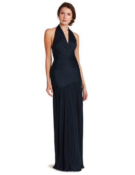 Halston Heritage Women S Pleated Halter Gown Fashion Dress