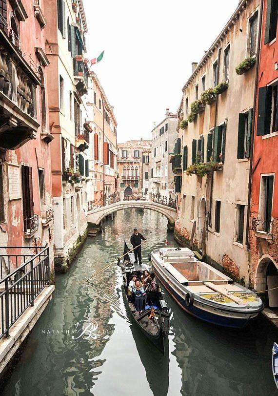 Venice canal photography pastel prints, Venice Bridges wall decor ...
