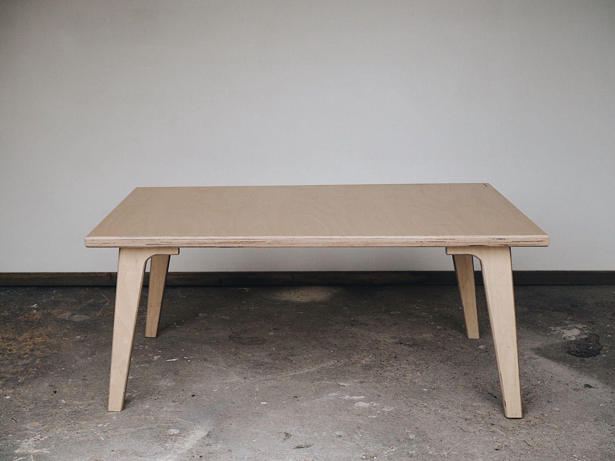 Henri Matias 110cm X 70cm X 45cm Birch Wood Coffee Table Handmade