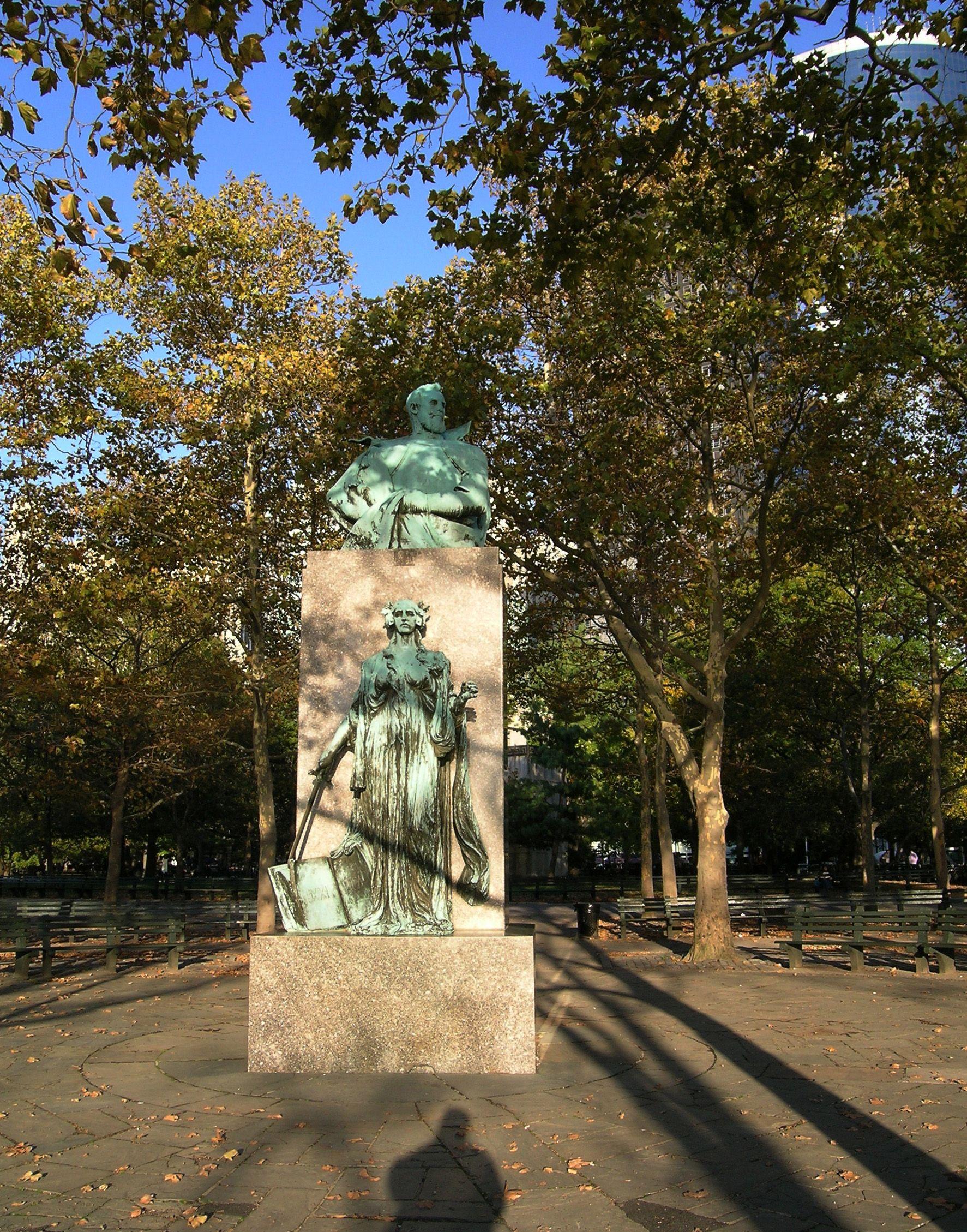 Giovanni Da Verrazano Memorial Battery Park New York City New York The Bronx New York Downtown New York Nyc History