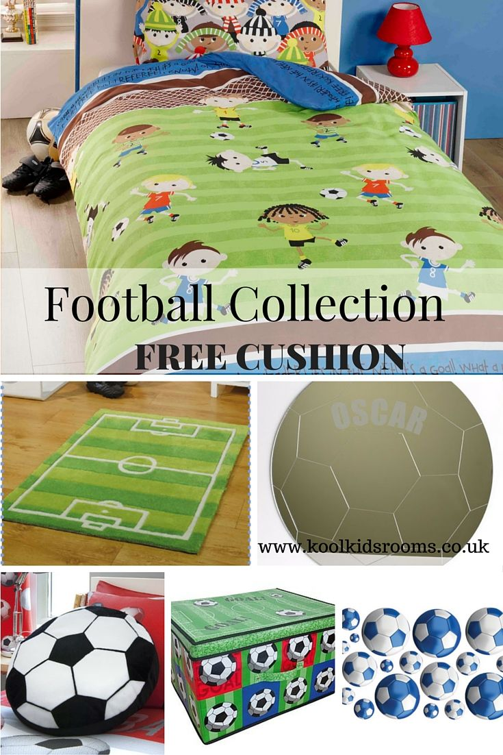 Toddlers Football Friends Bedroom Collection Kids Consisting Of 7 Products Including Single Duvet Cover Curtains Storage