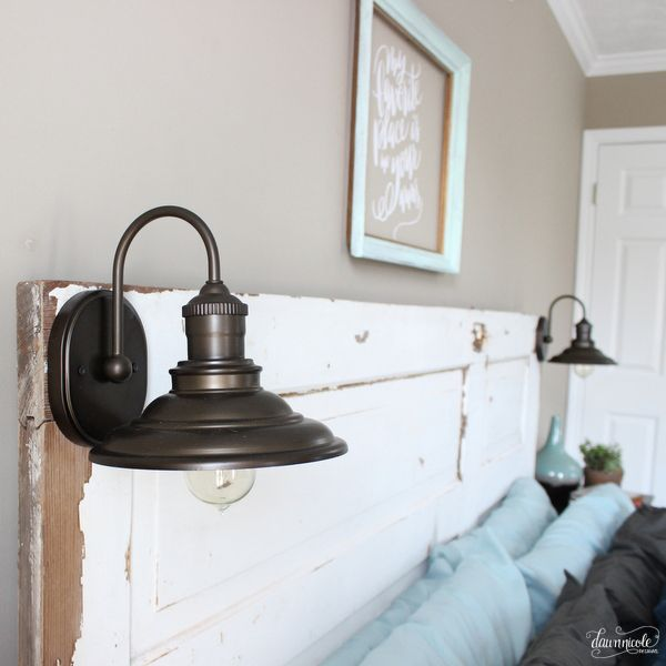 Diy vintage door headboard dawn nicole designs