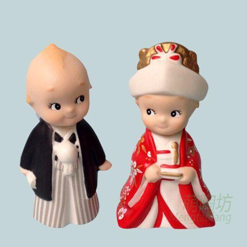 Rose O'Neill Japan Kewpie Porcelain Doll Porter Kato Kogei Baby Prince Princess #RoseONeill