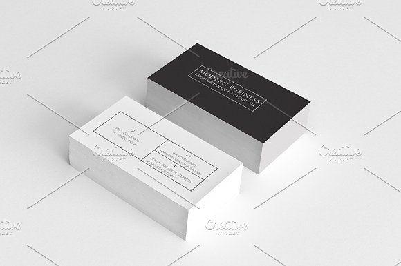 Simple modern minimal business crad pinterest business cards simple modern minimal business crad by felicidads on creativemarket colourmoves
