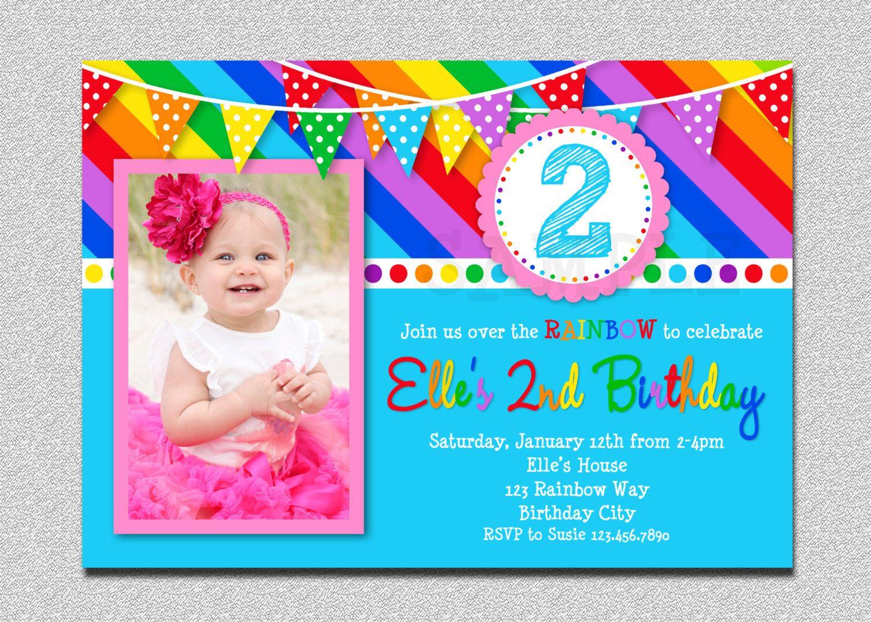 Create Rainbow Birthday Invitations Free Templates More http://www ...