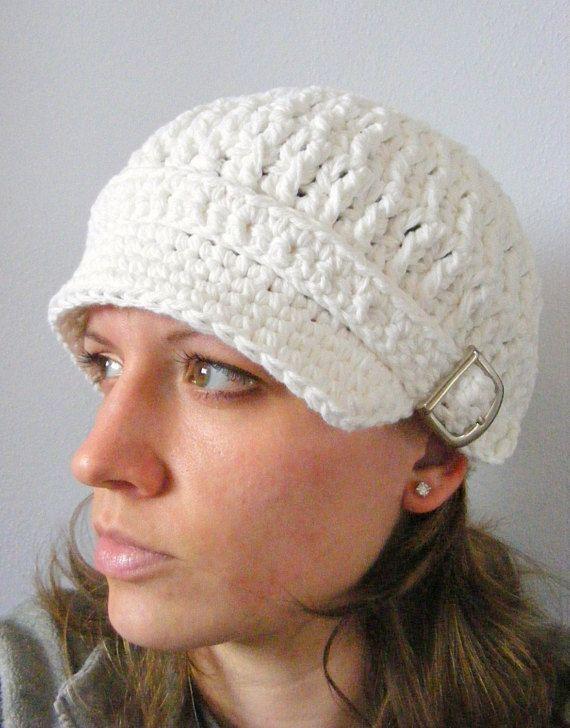White Newsboy Cap Womens Newsboy Hat Womens Hat White Hat Silver Buckle  Newsboy Trendy Winter Hat St 3c7770738