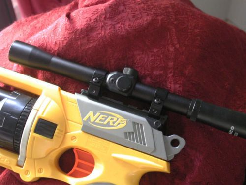 Real Metal Rifle Scope Fits all Nerf Guns Hand Spray by SteveODell, $19.95