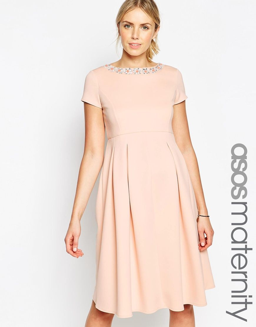 Kate middletons maternity style maternity dresses asos classic maternity look blush maternity dress with embellished neckline from asos ombrellifo Gallery