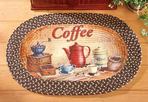 Braided Kitchen Coffee Accent Rug