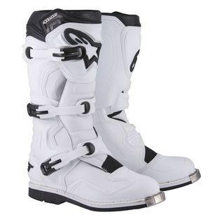 Alpine Stars Boots Tech 1 White Riding Motocross Racing Motorcycle Men