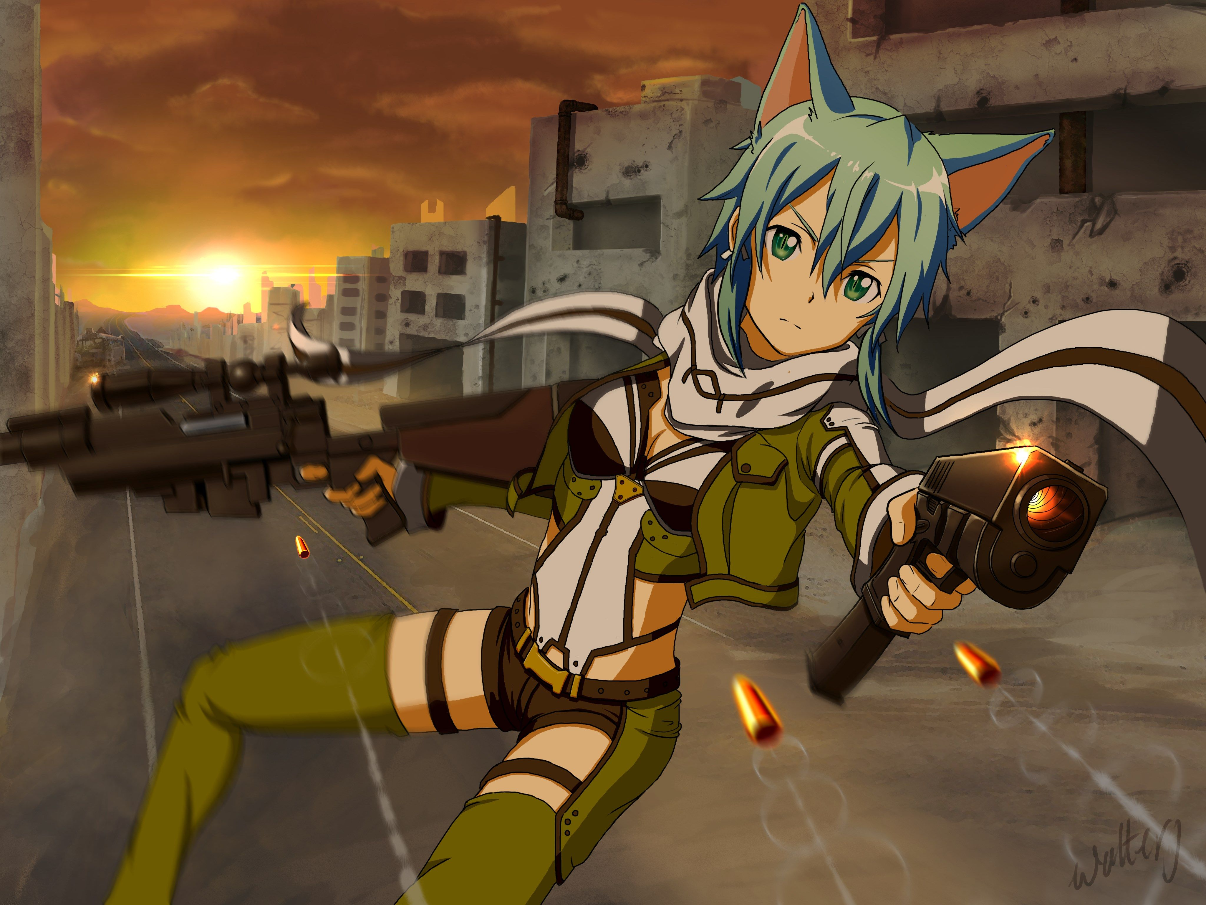 29+ Sinon Wallpaper Sword Art Online JPG