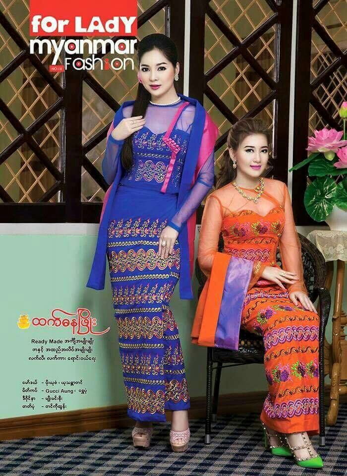 Myanmar dress | Asian Fashion | Pinterest | Conjuntos, Damas y Lugares