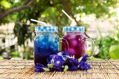 Das It-Getränk des Sommers: Blauer Chai! #icetea #eistee #bluechai #bluetea #grillen