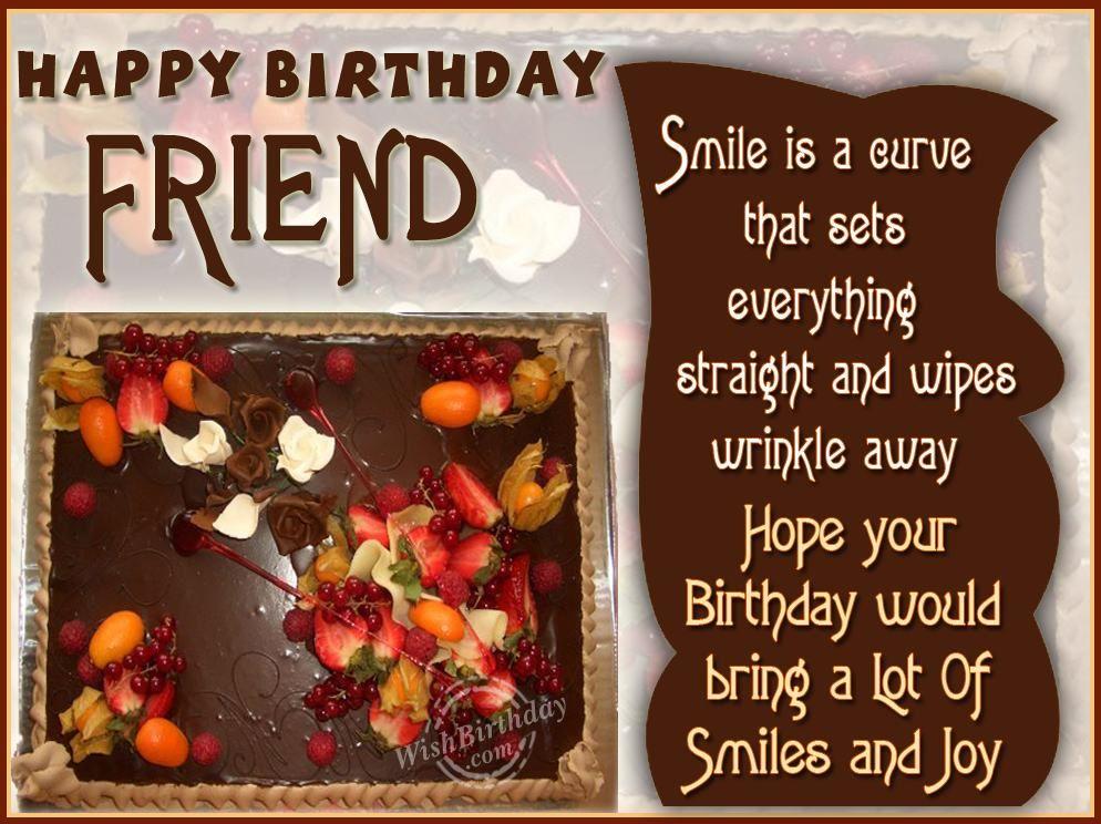 birthdaywishesforafriend7jpg 994 744 – Birthday Wishes and Greetings for a Friend