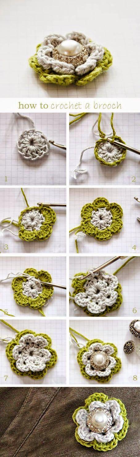 Todo crochet   Tejido, Ganchillo y Flores