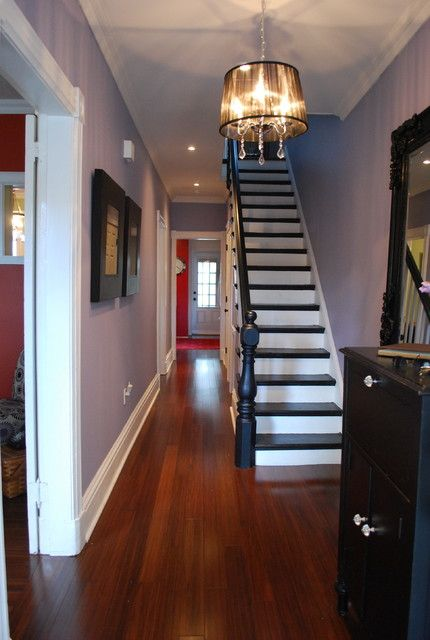 Dark Handrail With Cherry Floor Seriously Considering