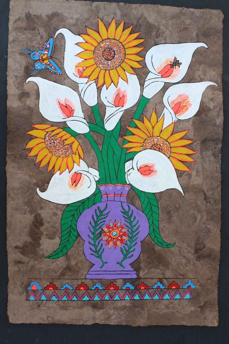 Mexican Folk Art Amate Bark Painting