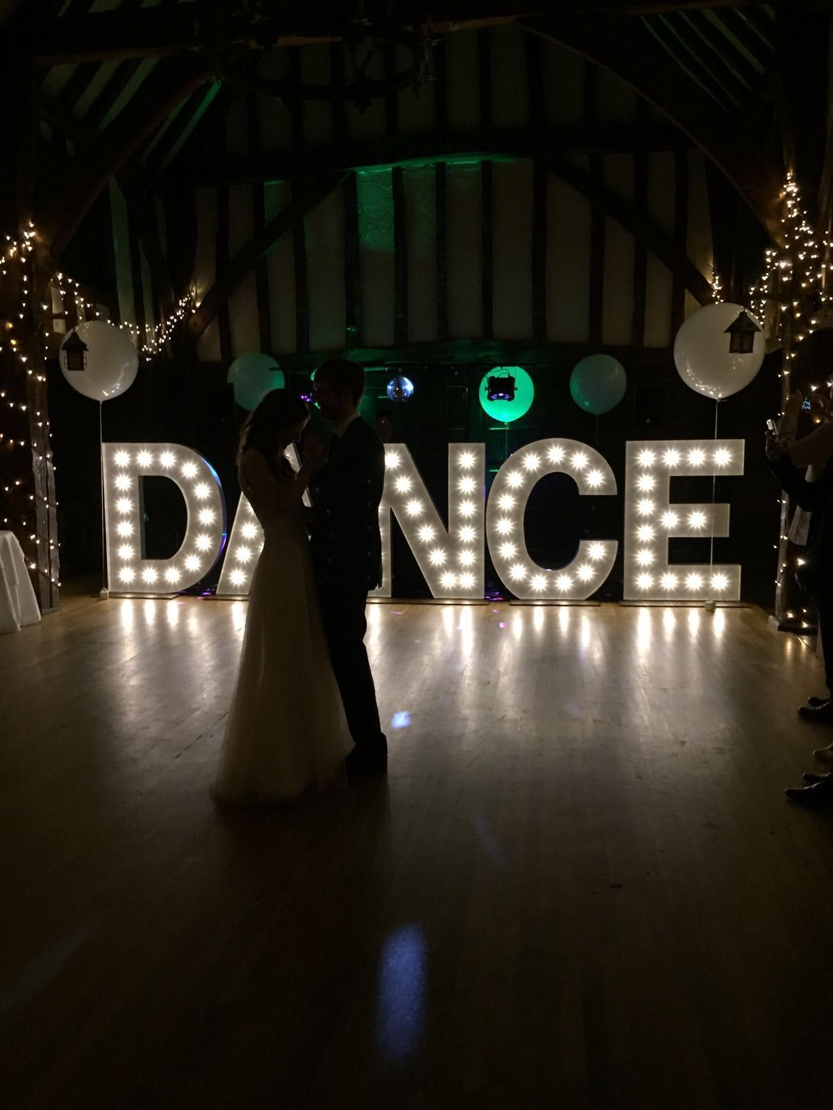 Giant Dance Illuminated Letter Lights At Great Fosters Stunning
