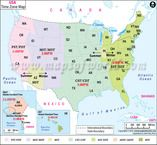 USA Time Zone Map Home School Worksheets Pinterest Time Zone - Us state time zone map