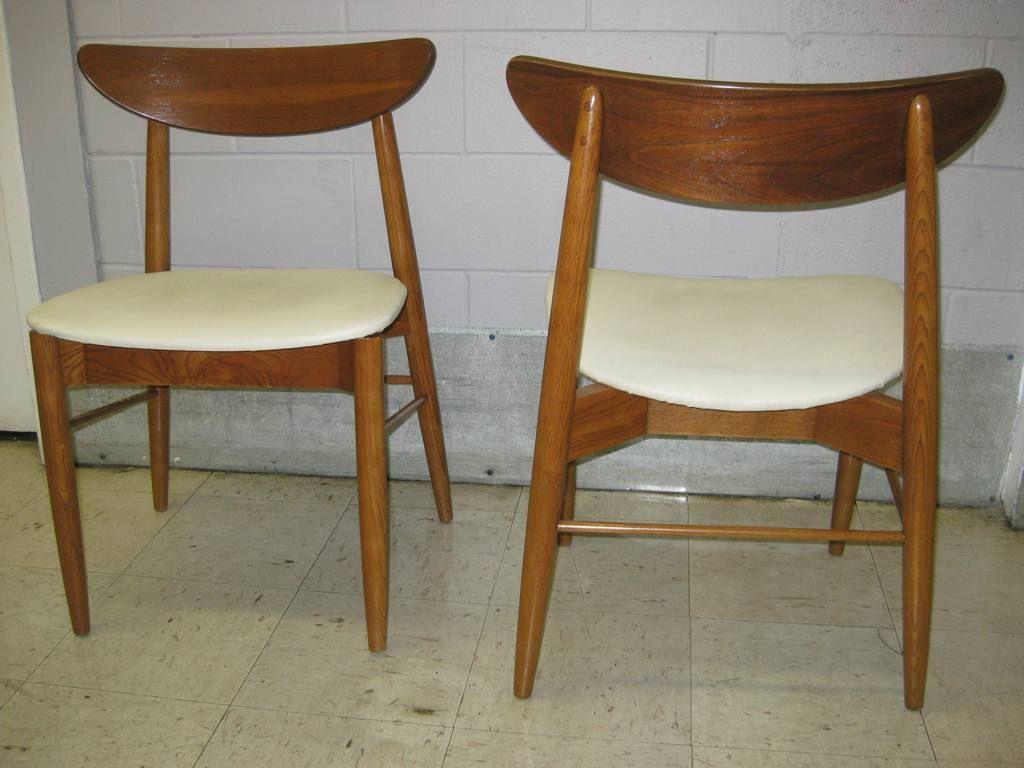 Mid Century Modern Danish Teak Dining Chairs Modern Dining Set