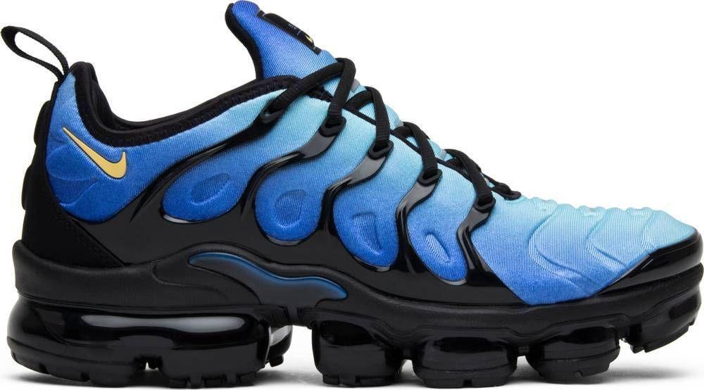 6a716720bbc01 Nike Air Vapormax Plus Original Fade Black Hyper Blue Yellow 924453 ...