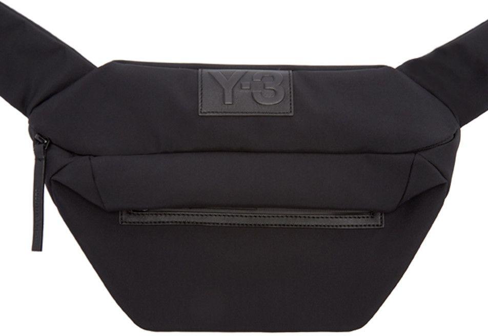 Y-3 Black Qasa Travel Bag.  y-3  bags  shoulder bags  leather  54a9dbb411478
