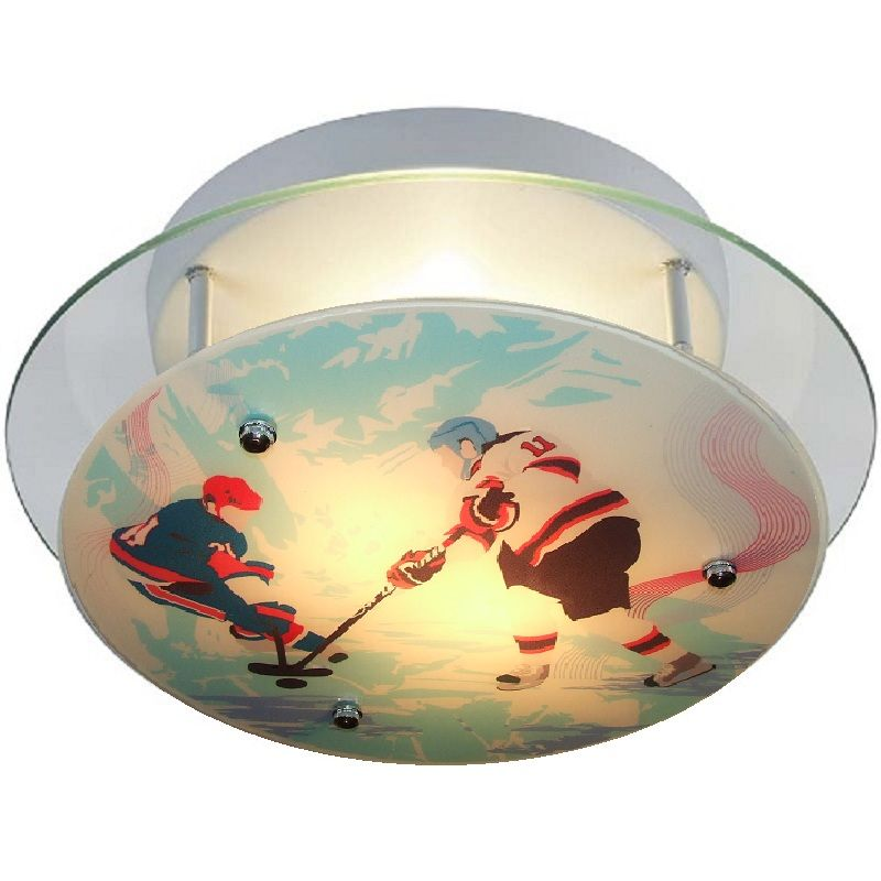 Hockey fans will love this Hockey Sports Ceiling Light. Perfect for ...