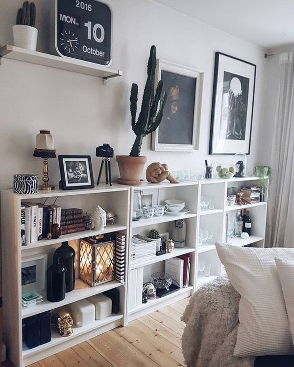 20 Simple Ikea Billy Bookcase For Limited Space Home Design And Interior Living Room Decor Apartment Small Living Room Decor Ikea Living Room