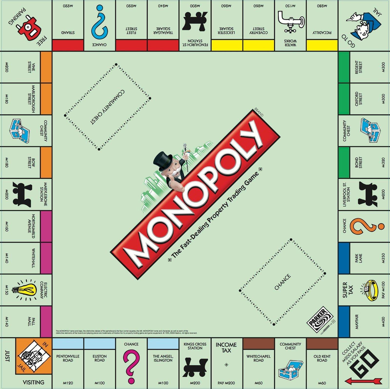 Monopoly Box Template Creativity Productivity Diy Monopoly Board