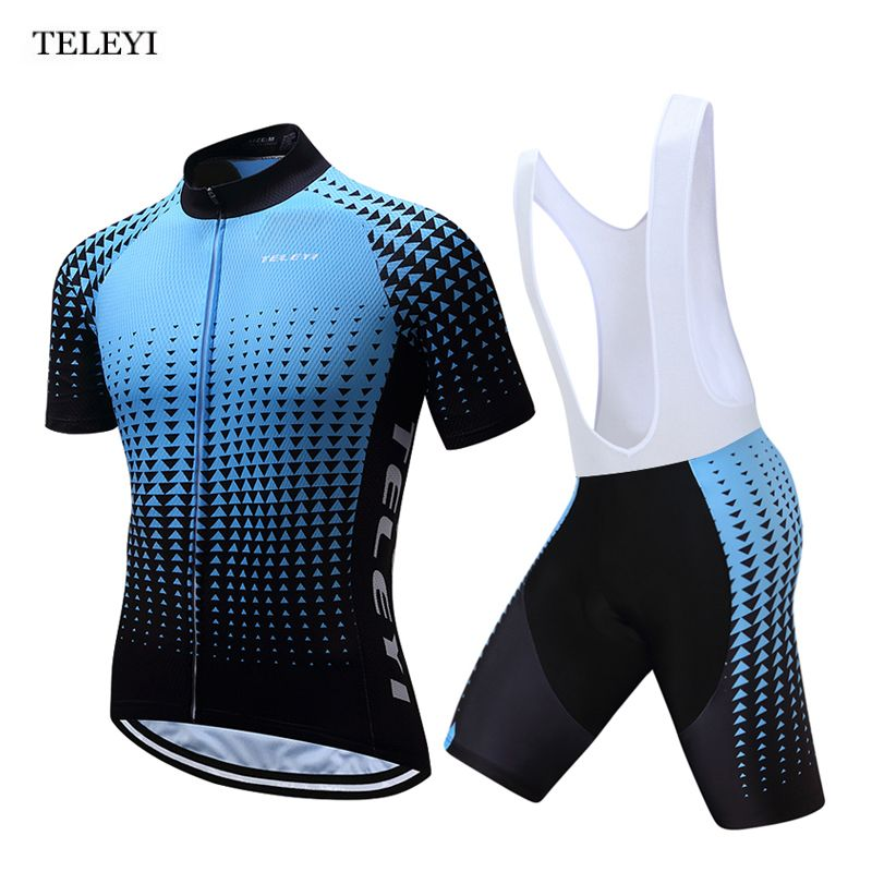 Teleyi Men S Breathable Cycling Jersey Top Bike Bicycle Clothing Summer Ropa Ciclismo Short Sleeves T Shirt Bib Shorts S Ropa De Ciclismo Maillot Ciclismo Ropa