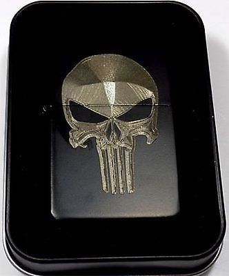 Punisher Skull Black Gift Engraved Cigarette Lighter Biker Gift LEN-0059 %SALE% #carscampus