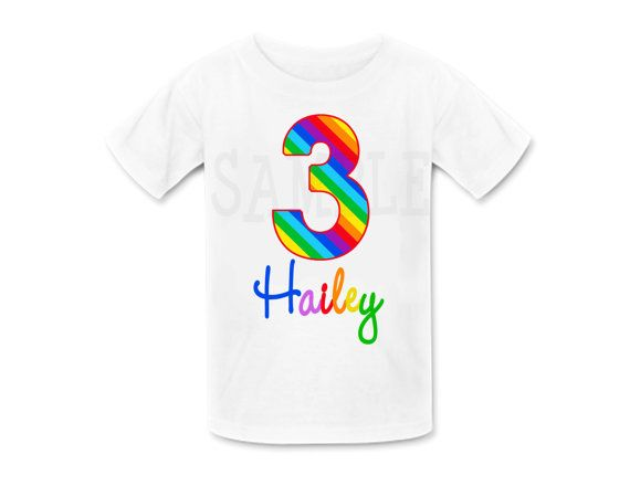 Rainbow Birthday Shirt Personalized TShirt Or Bodysuit