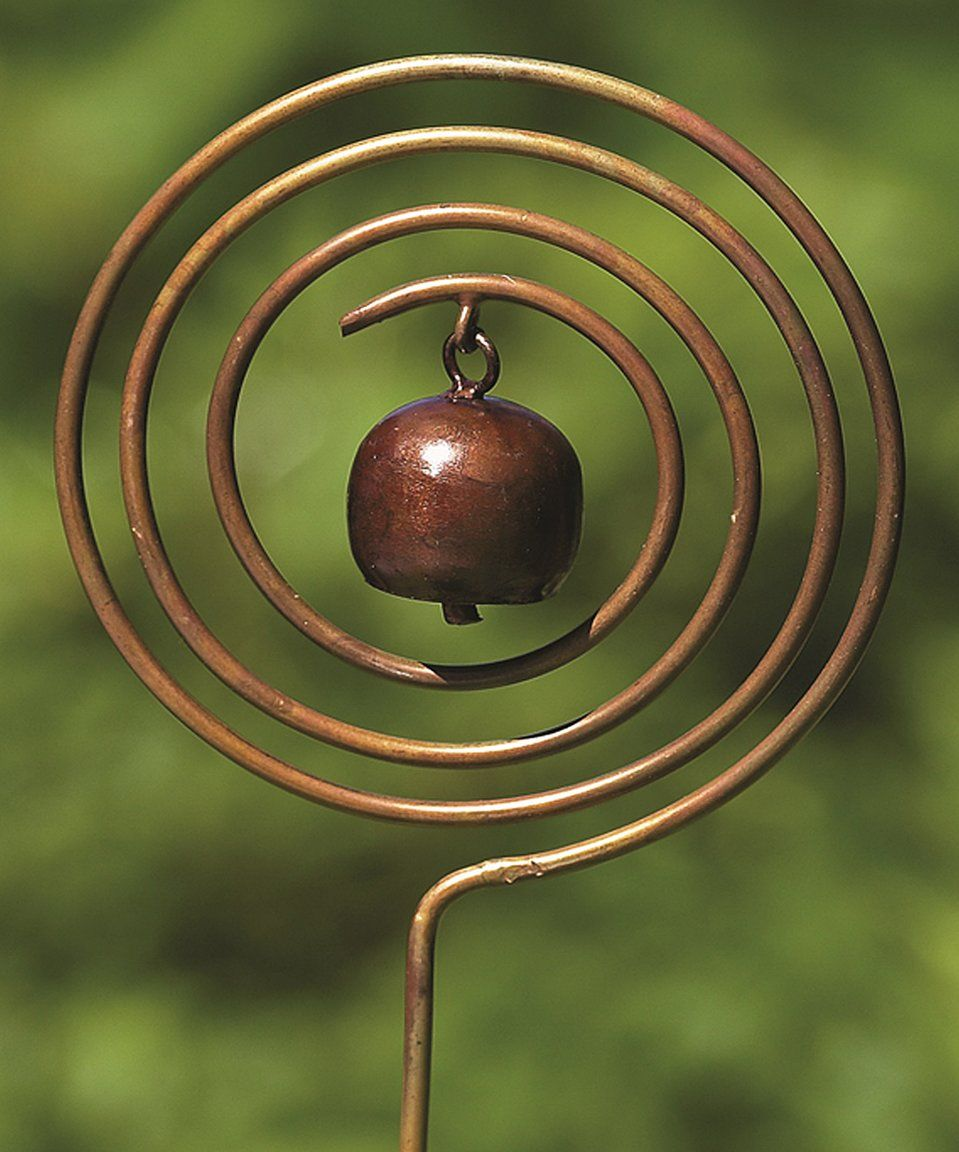 Take a look at this Bronzed Circle Bell Garden Stake today! | Bluh ...