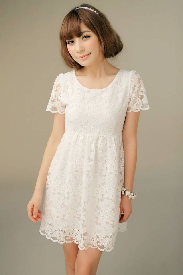 Collection White Casual Dresses For Women Pictures - Reikian