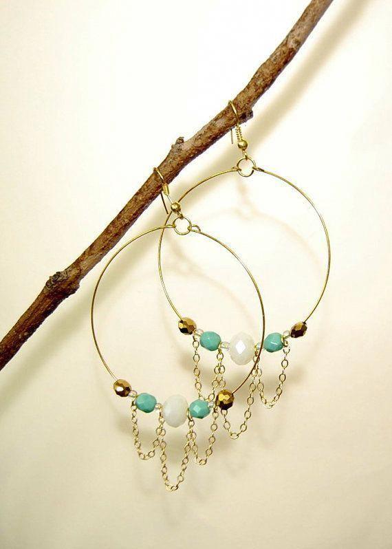 Large Gold Circle Drop Earrings  Big Hoop Earrings Sparkly Hoops Geometric Earrings Elegant Hoops Circle Earrings Gifts for Her  Fine Jewelry Ideas