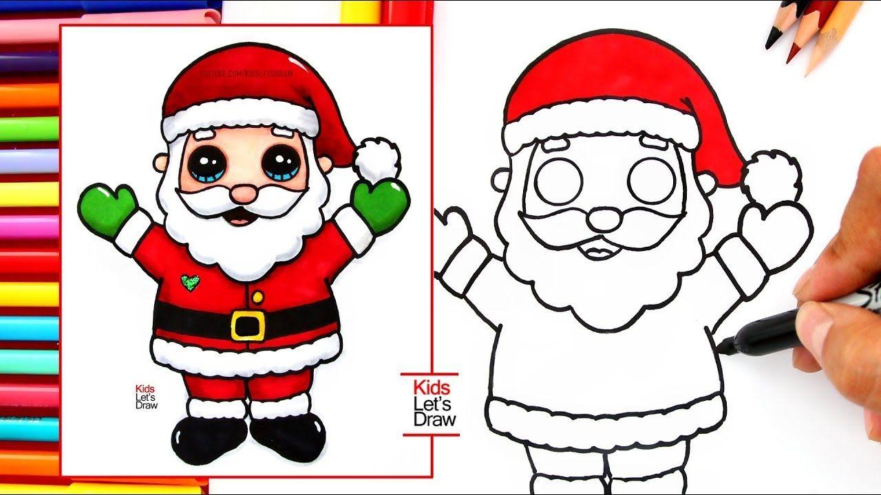 Cómo Dibujar Y Pintar A Papá Noel Santa Claus Cómo Dibujar A Santa Papa Noel Para Pintar Papa Noel Dibujo