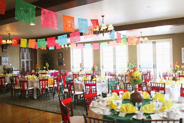 Mexican Fiesta Wedding | Mexican fiesta, Chair bows and Fiestas