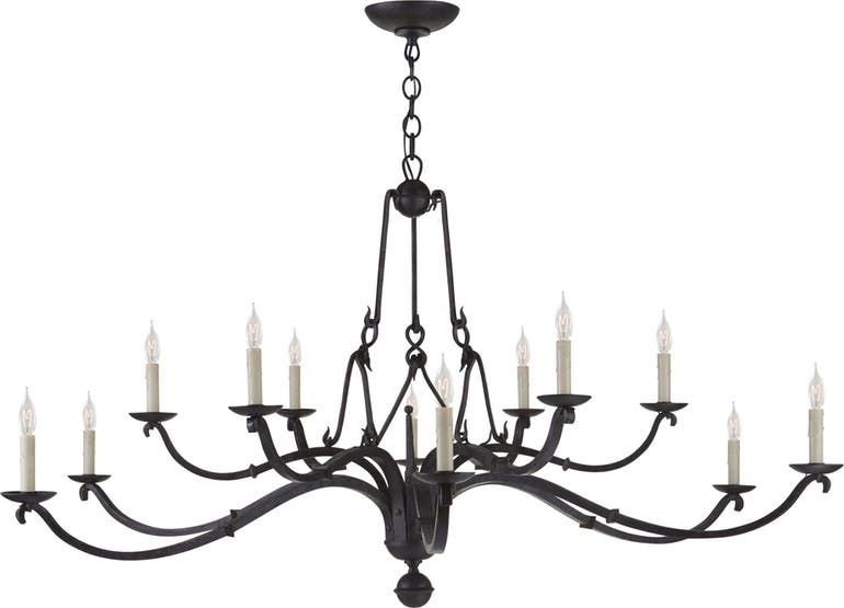 ALLEGRA LARGE CHANDELIER IN AGED IRON | House Decor/Renovations I ...