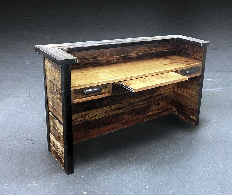 reclaimed desk inside furnishings pinterest schreibtisch holz und schreibtisch holz. Black Bedroom Furniture Sets. Home Design Ideas