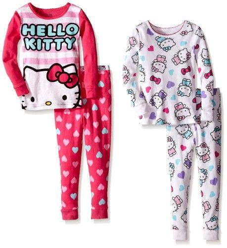 a33b1b915 Komar Kids Girls' Hello Kitty 4 Piece Cotton Sets, Girl's, Size: 4T, Multi