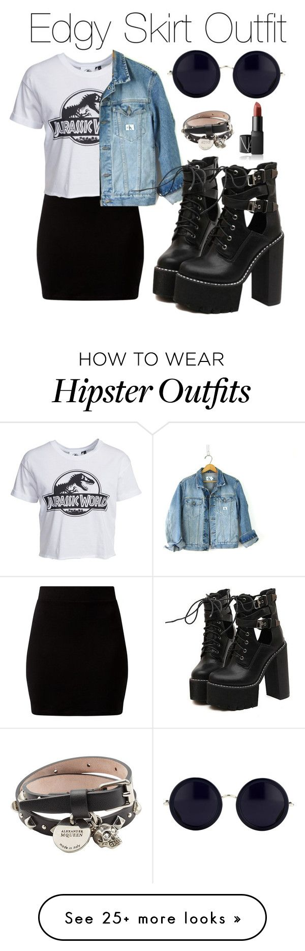 """""""Edgy Skirt Outfit"""" by kimbo20111 on Polyvore featuring ..."""